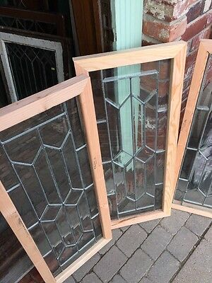 Sg1118 3 Available Price Separate Antique All Beveled Glass Transom Window