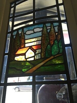 Stained-Glass Arts And Crafts Craftsman Style  Leaded  Windows 6