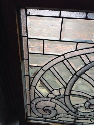 Sg 207 Absolutely Incredible 1880S Beveled Glass Window 2