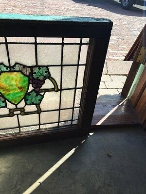Sg 567 Antique Wine Cellar Grape Design Stainglass Window 4
