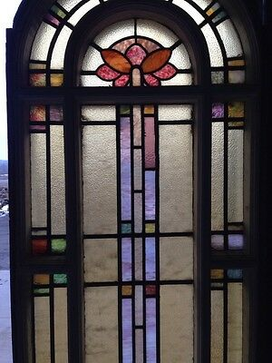 Number Two Of Youngstown's Finest Antique Stainglass Windows Tall In Woodframe 3