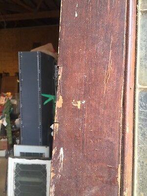 D202 Antique Swing Door With Textured Glass 29 Inch 79 Inch 7