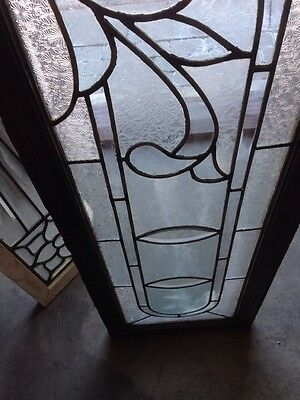 Sg 96 Extra Long Antique Textured Glass Transom Window 5