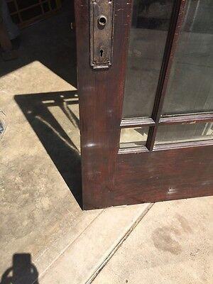 D 225 Antique Oak Painted Townhouse Entrance Door Beveled Glass 10