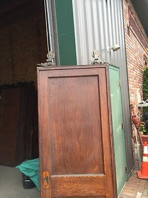 R D 13 Antique Oak Single 2 Panel Pocket Door 6