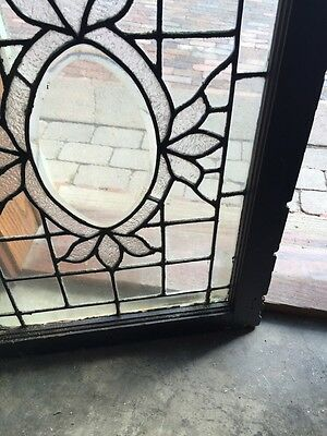 Sg 564 Antique Textured Glass Oval Beveled Glass Window 5
