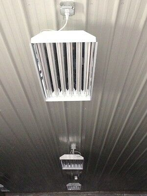 INCLUDES BULBS) 6 Lamp T8 Fluorescent High Bay Fixture Warehouse ...