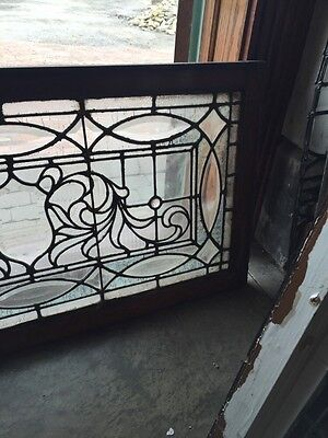 "Sg 749 Antique Transom Window 22"" X 42.25"" Beautiful 4"
