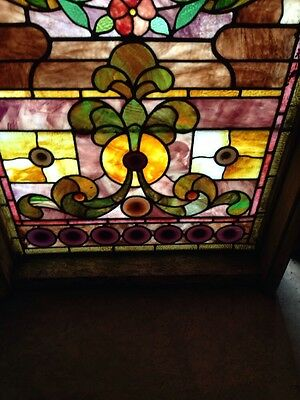 Sg 89 Antique Rudy  Brothers Landing Window With Jewels 5