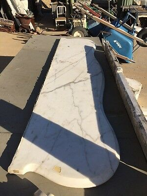 Antique White Marble Oversize Fireplace Mantle 8