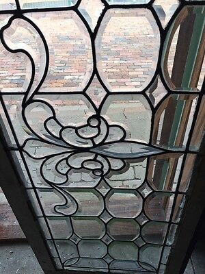 Sg 596 All Beveled Glass Transom Window 22 Inches High By 56 1/4 Long 3