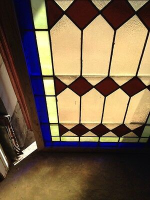 Antique Arch Top Stained Glass Window 33.25 X 63.25 High Sg 134 6
