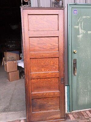 Rd 22 One Single Oak Flat Panel Pocket Door 4