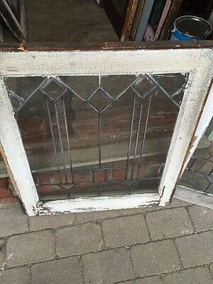 Sg 351 Antique Matched Pair Arrows Beveled Windows 5