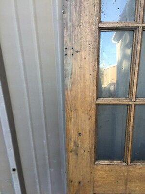 Cm 85 Antique Oak Entrance Door Or Passage Door 29.5 X 78 10