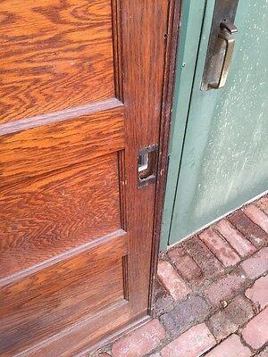 Rd 22 One Single Oak Flat Panel Pocket Door 6