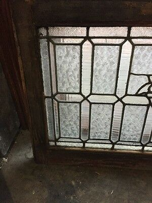 Sg 955 Antique Textured Glass Jeweled Transom 2
