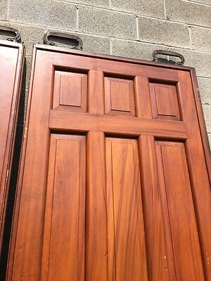 D2 26 One Pair Antique Cherry Pocket Doors 80 Inch Wide By 105 Hi 5