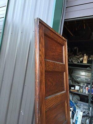 "A R 20 Antique Five Panel Single Oak Pocket Door 30"" X 84 3"