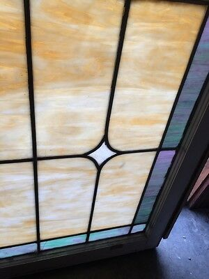 Sg 871 Antique Stainglass Lily Pad/Cat Tail Landing Window 8