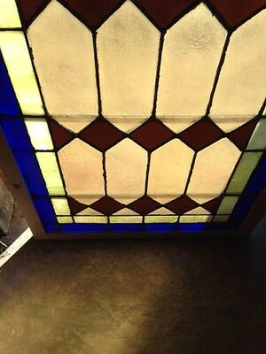 Sg 132 Antique Arched Stained Glass Window 33.5 X 63.25 High 6