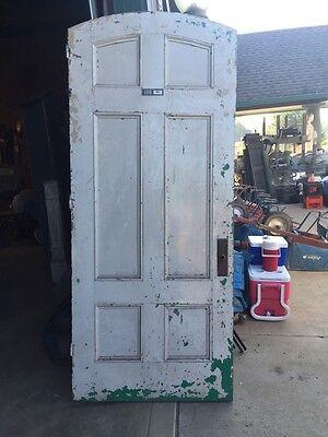 D206 Metal Galvanized Arch Top Door Antique 7