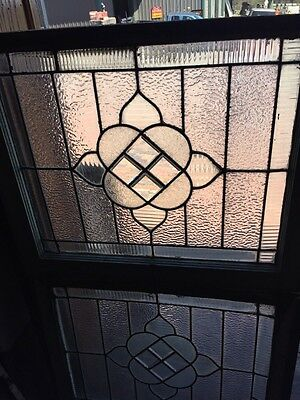 Sg 786 Two Available Price Each Antique Textured Glass Window