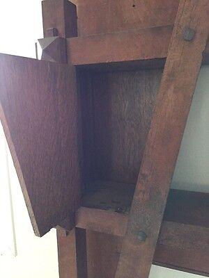 Antique Quartersawn Oak Fancy Mission Mantle With Clock 5