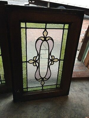 Sg 904 Matched Pair Antique Stainglass Windows 3