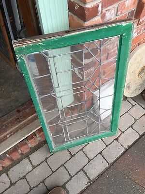"Sg 627 Antique Leaded Glass Transom Window 21.25 X 34.25"" 6"