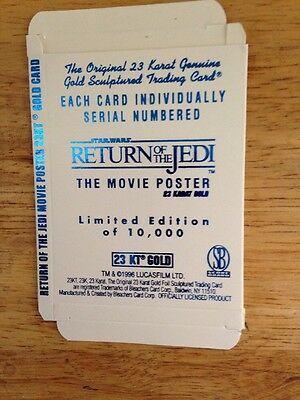 STAR WARS Original Movie Poster 23K GOLD CARD,*Officially licensed by Lucas Film