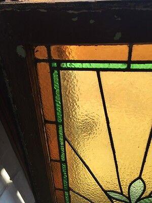 Sg 520 Antique Stainglass Window Transom Ray Of Sunshine 2