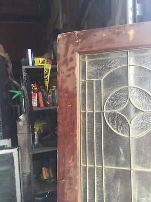 D202 Antique Swing Door With Textured Glass 29 Inch 79 Inch 10