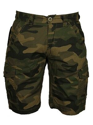 f530ee1323 ... Bnwt Mens Big King Size Camo Cargo Shorts Forge Grey Camo Khaki Colours  28 -70