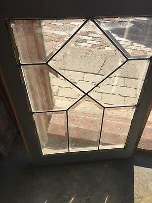 "Sga 720 Antique All Beveled Glass Window 20.5"" X 28 And Three-Quarter Inch 2"