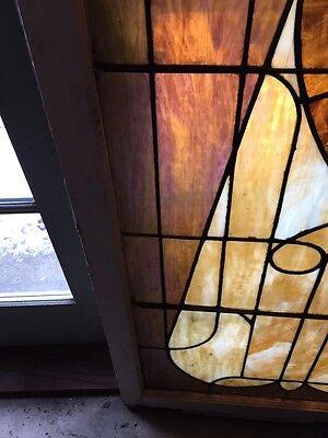 Sg 441 Antique Stainglass Landing Window Keyhole Design 5