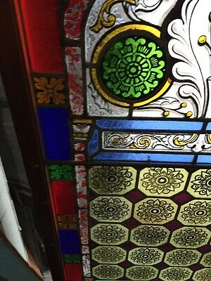 Sg 895 Two Available Price Separate Antique Painted And Fired Landing Windows 5