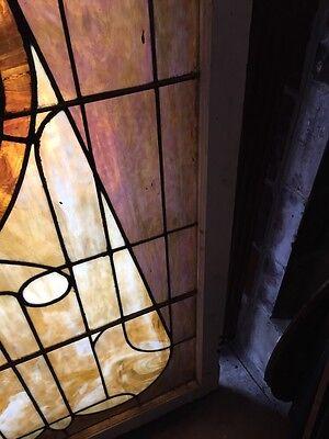Sg 441 Antique Stainglass Landing Window Keyhole Design 6