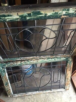 Sg 845 2 Available Price Separate Antique Leaded Glass Window 10