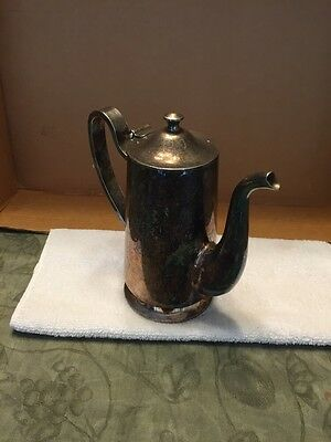 D. W. Haber And Son NY Silver Plated Pitcher With Attached Lid 2