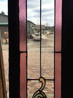 Sg 471 Antique Dual Jewel Transom Glass Window Beveled Center 3