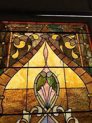 Ca14 Antique 1890S Stainglass Landing Window 2