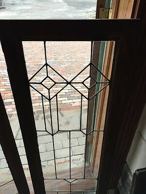 Sg 363 One Pair Antique Leaded GlassCabinet Doors Or Windows