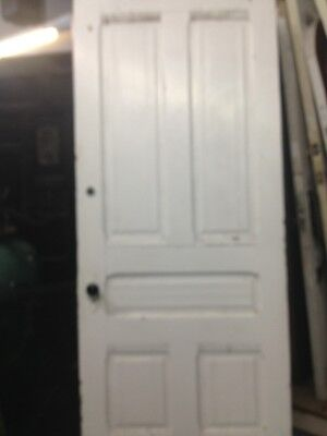 "Victorian Front Door With Original Hardware 83""x34""wood 8"