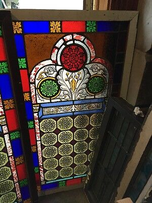 Sg 895 Two Available Price Separate Antique Painted And Fired Landing Windows 3