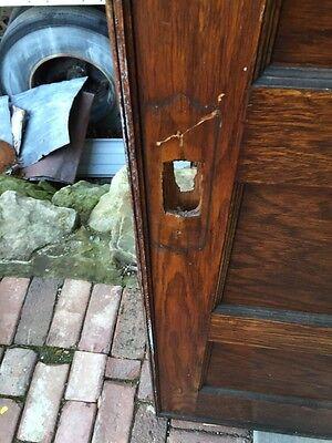 "A R 20 Antique Five Panel Single Oak Pocket Door 30"" X 84 2"