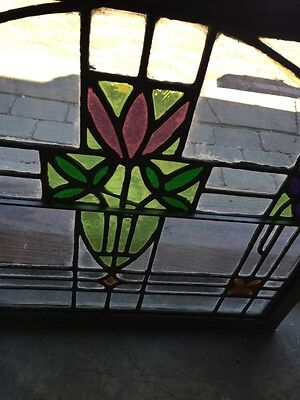 Sg 782 Four Available Price Separate Antique Stainglass Windows 7