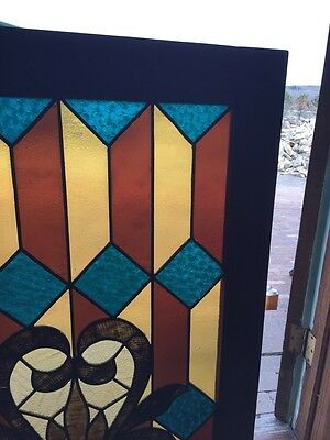 Sg 764 Antiques Stainglass Window 29 In An 8Th Inch Wide 41 1/2 High 3