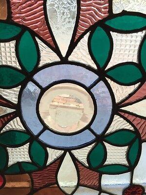 Sg 365 Amazing Pressed Jewel Turn-Of-The-Century Antique Stainglass Window 5