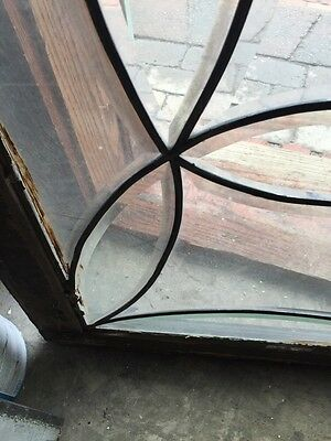 Sg 538 All Beveled Glass Transom Window Antique 6